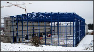 Bau einer Logistikhalle